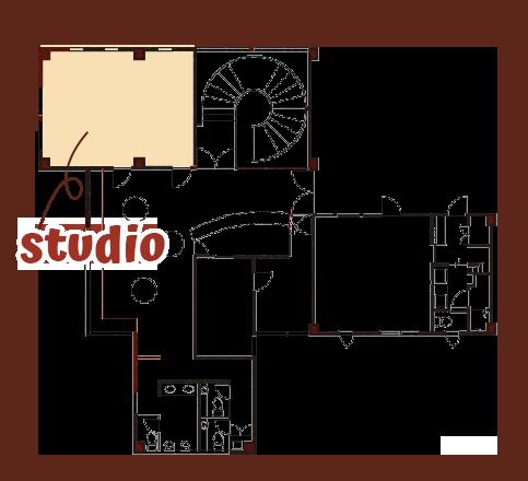 スタジオの場所と広さ